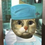 Cat Painting As Surgeon