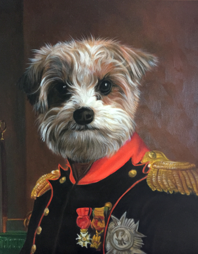 Napoleon Dog Oil Painting Portrait by Splendid Beast