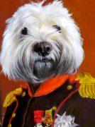 Napoleon Dog Oil Painting