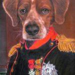 Dog Painting as Napoleon