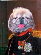 Napoleon Dog Painting