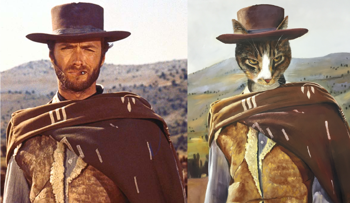 Cat portrait - Clint Eastwood - Splendid Beast