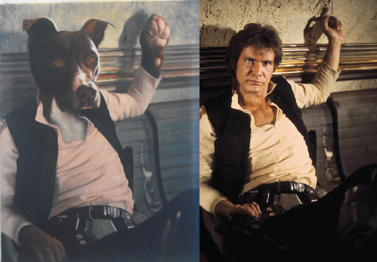 Dog Painting - Han Solo - Splendid Beast