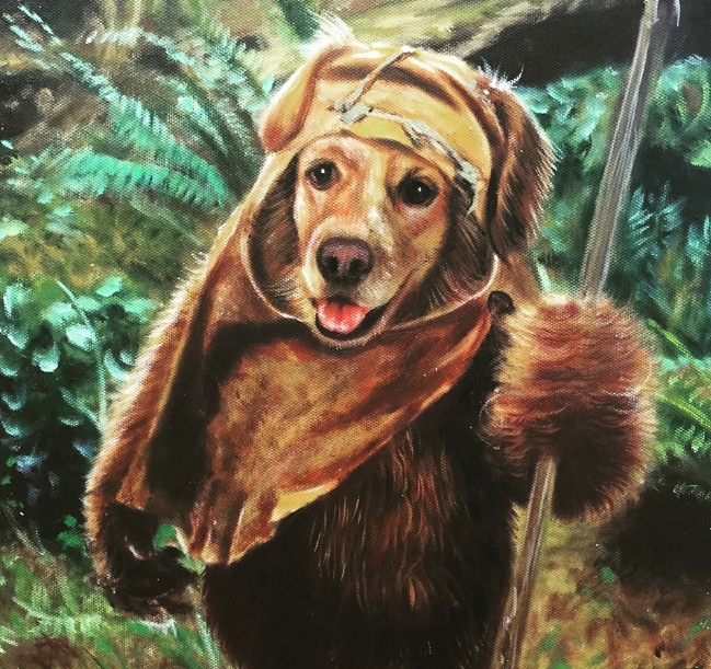 Dog Painting - Ewok - Splendid Beast