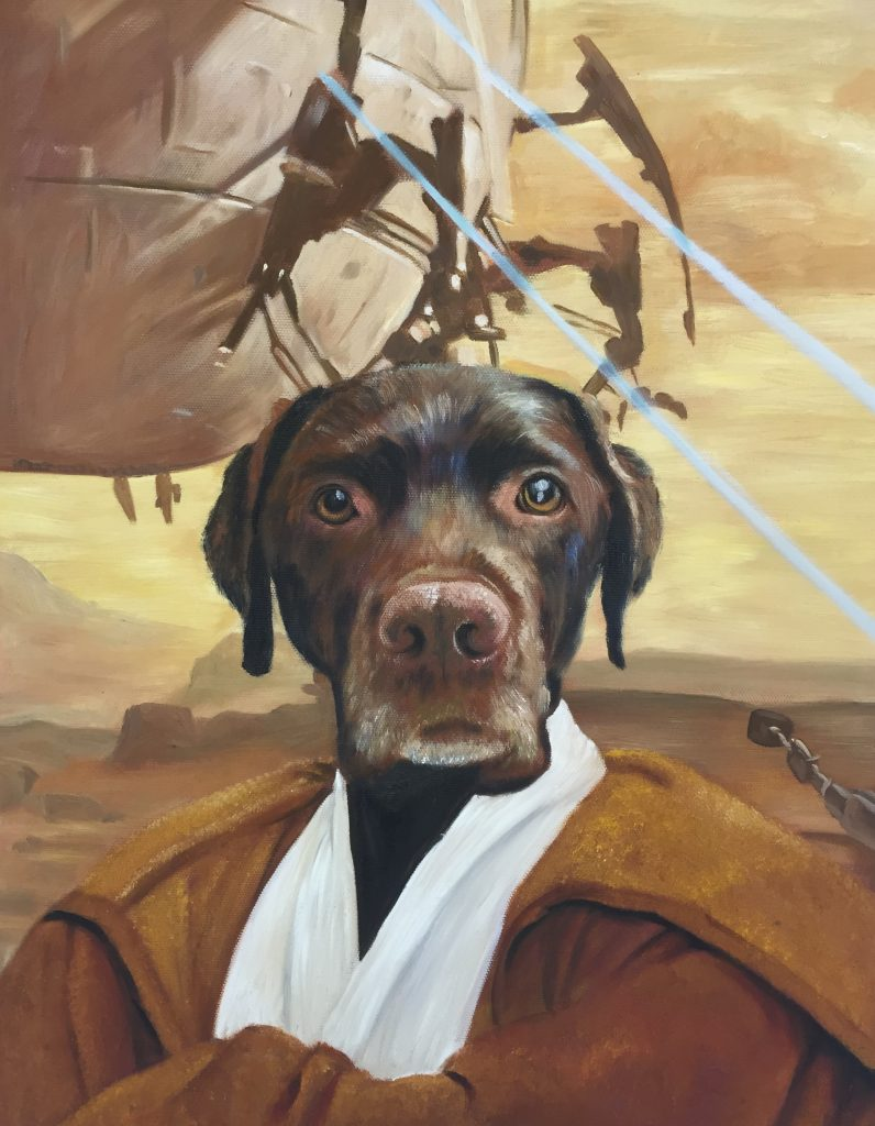Dog painting - Jedi - Splendid Beast