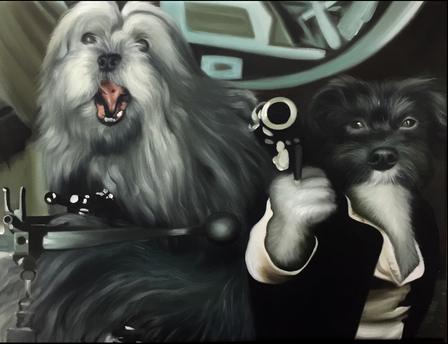 Dog paintings - Star Wars - Splendid Beast