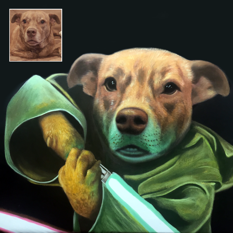 Dog Paintings - Yoda - Splendid Beast