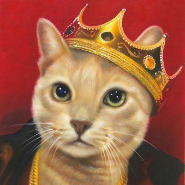 Rapper Cat Painting Biggie Smalls