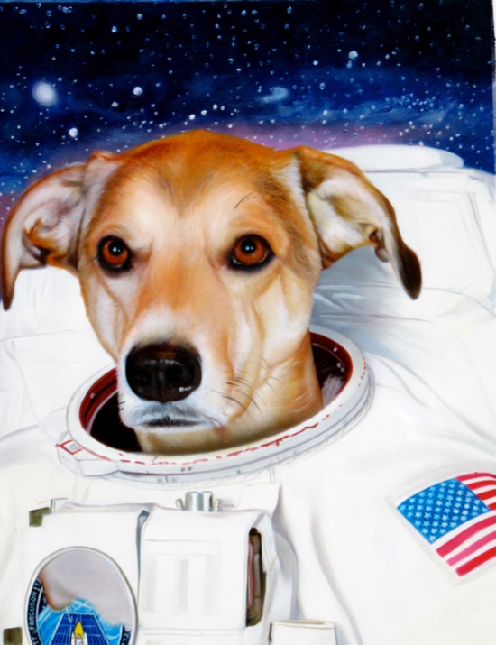 Dog Astronaut Portrait