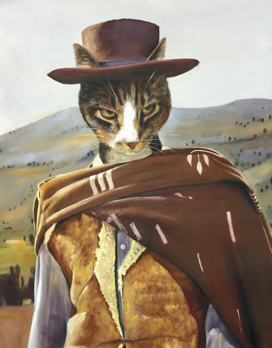 Cat Portrait as Clint Eastwood