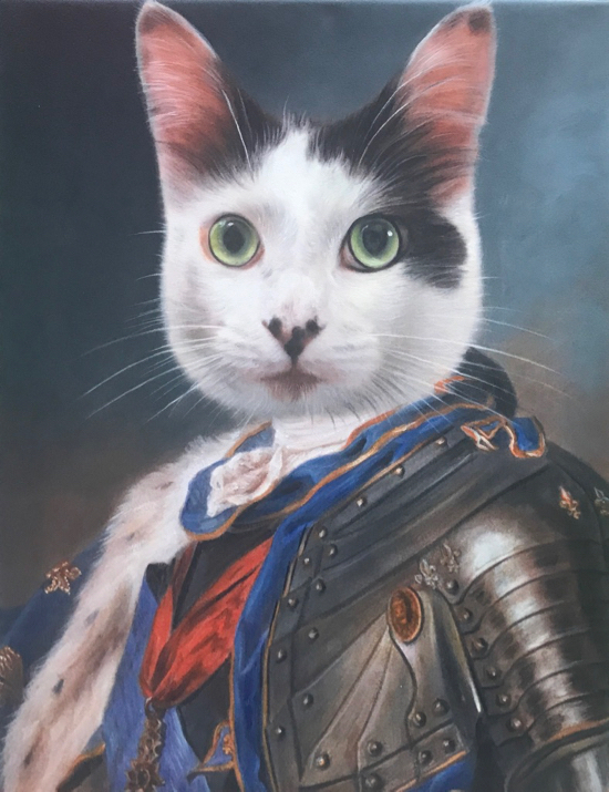 Cat Portrait as Royal Monarch