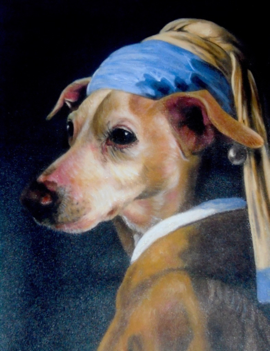 Girl with a Pearl Earring Dog Painting