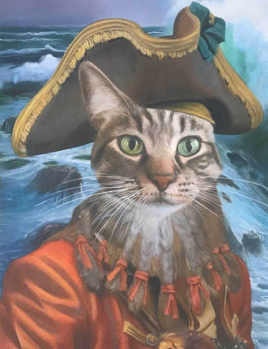 Feline Oil Painting as a pirate by Splendid Beast