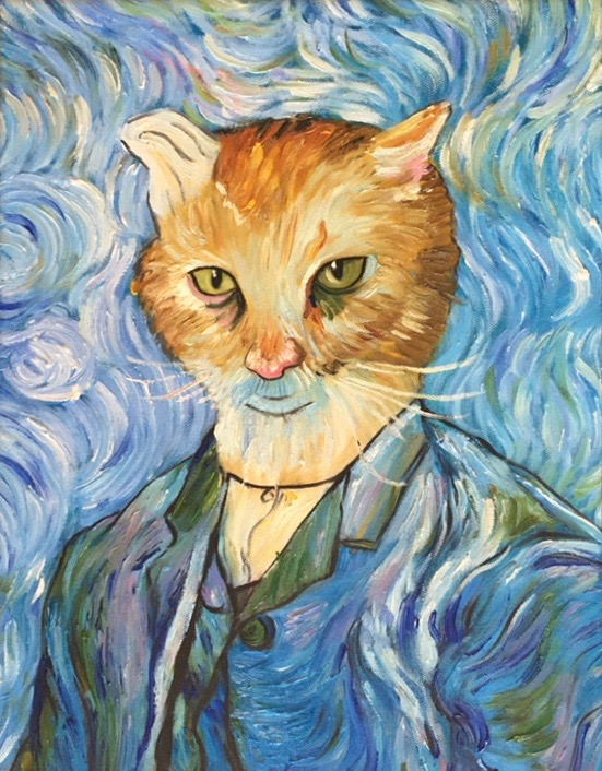Cat as Van Gogh's self-portrait by Splendid Beast