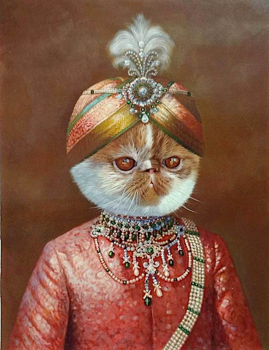 Cat Portrait as a Maharaja