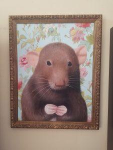 Rat painting portrait by Splendid Beast