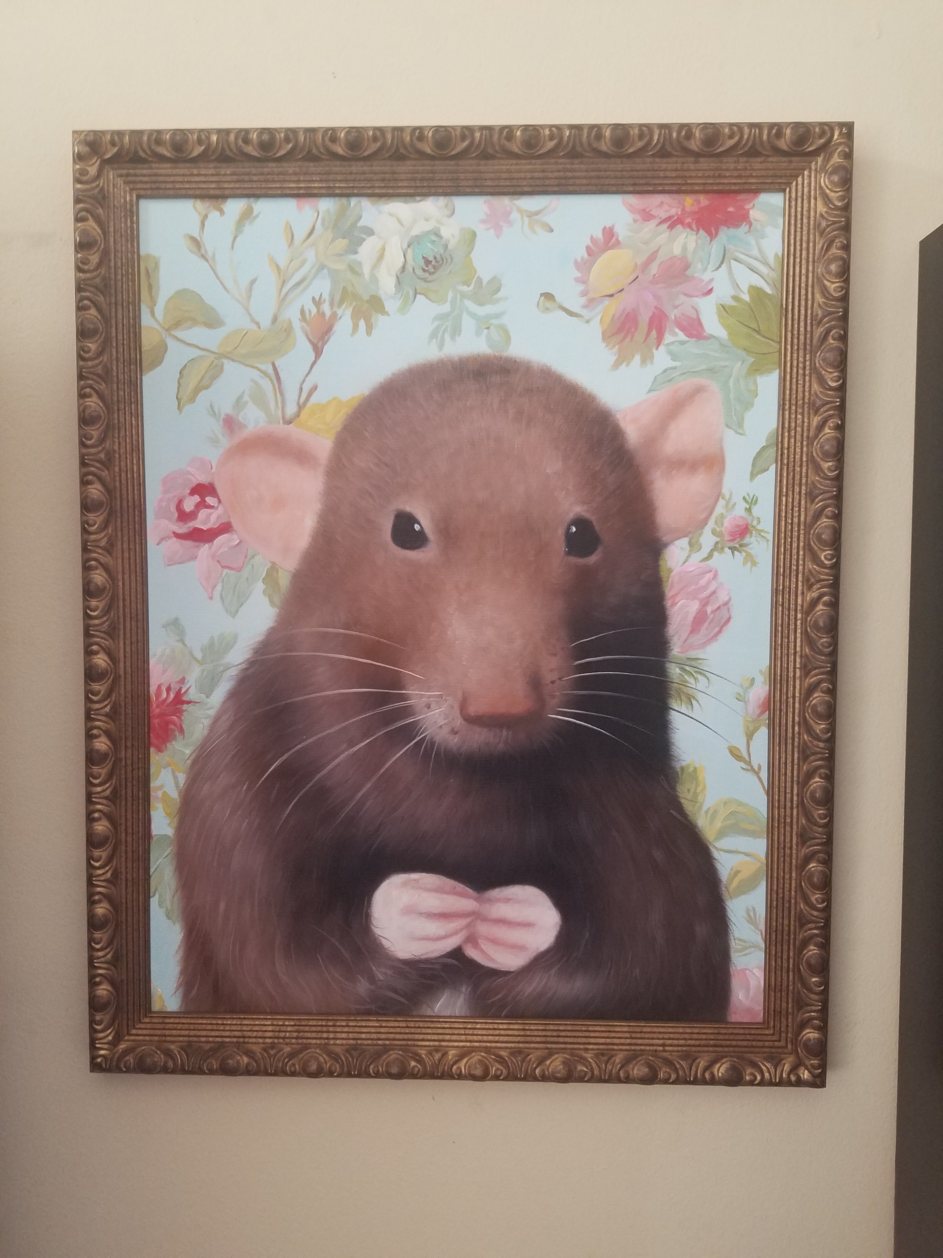 Rat painting portrait by Splendid Beast
