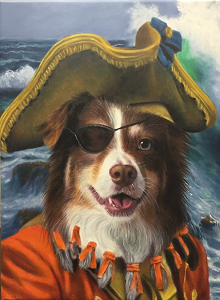 Sailor dog painting