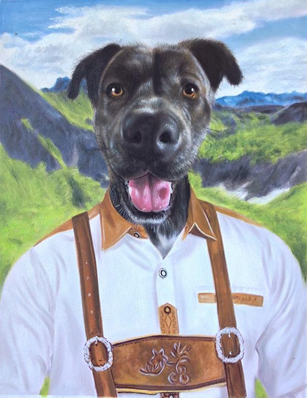 Lederhosen Dog