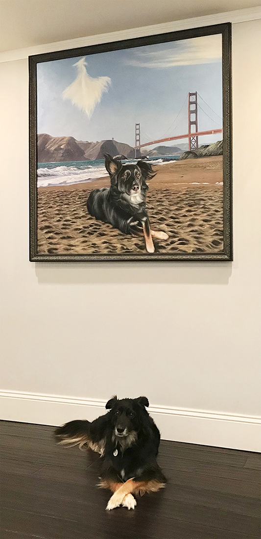 huge custom dog painting