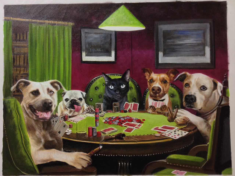 Poker Pet Paintings
