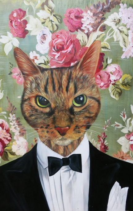 Tuxedo Cat Paintings