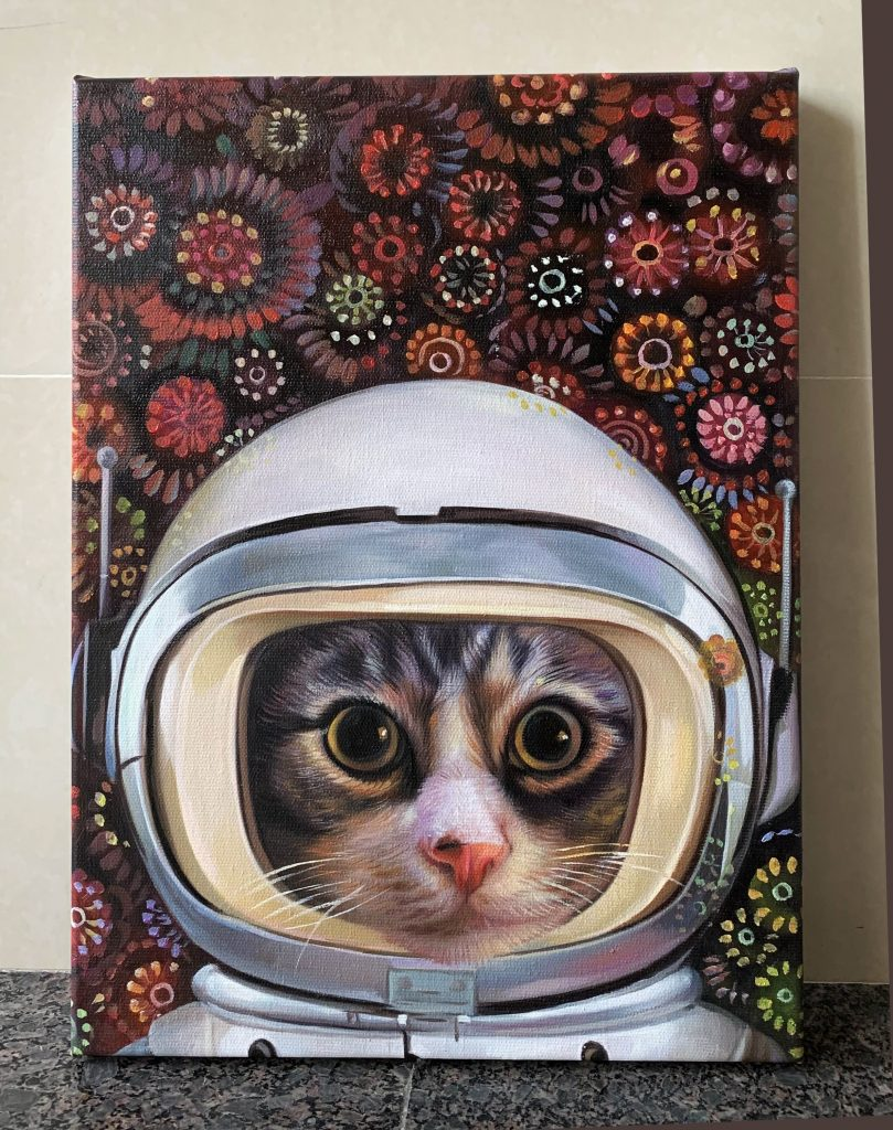 space cadet pet painting