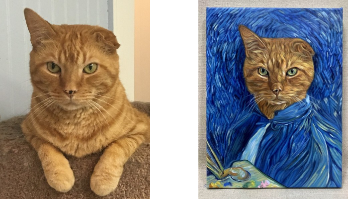 van gogh pet portrait