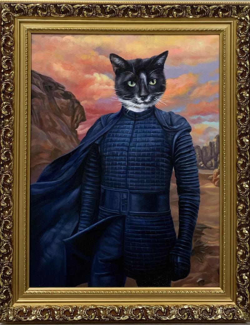 kylo ren cat painting