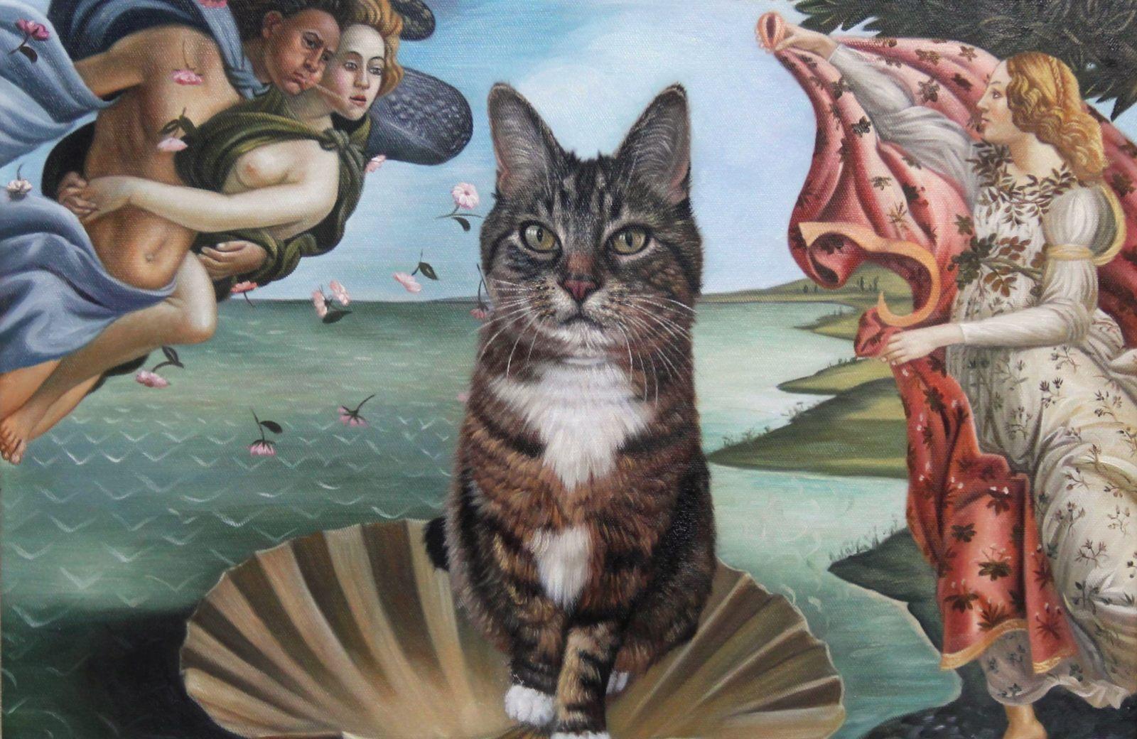 the birth of venus cat painting