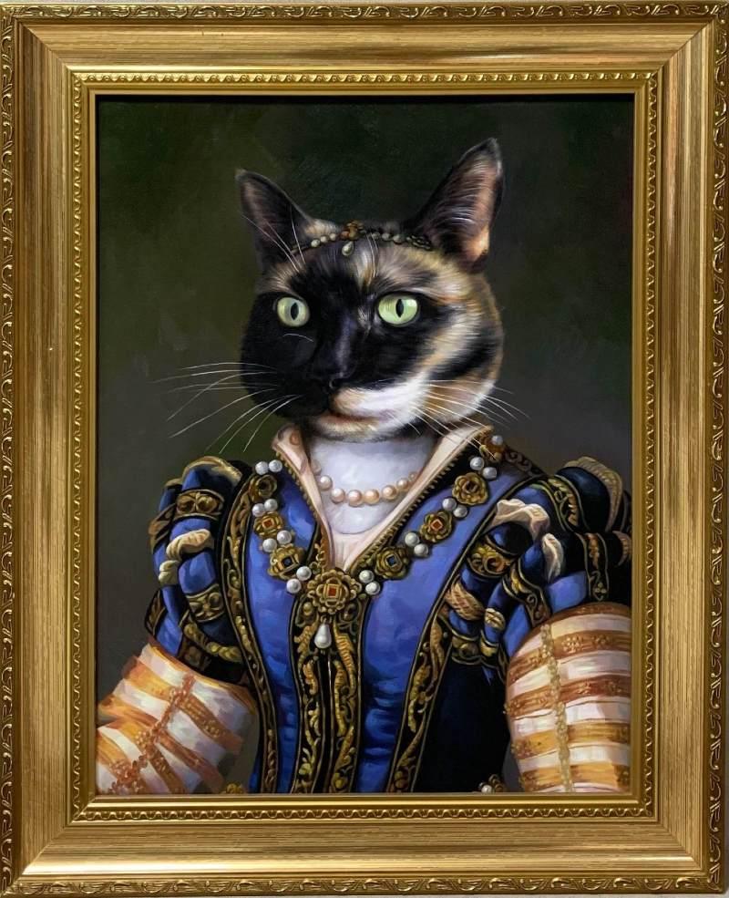fancy cat painting