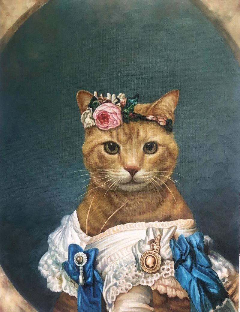 princess cat portrait