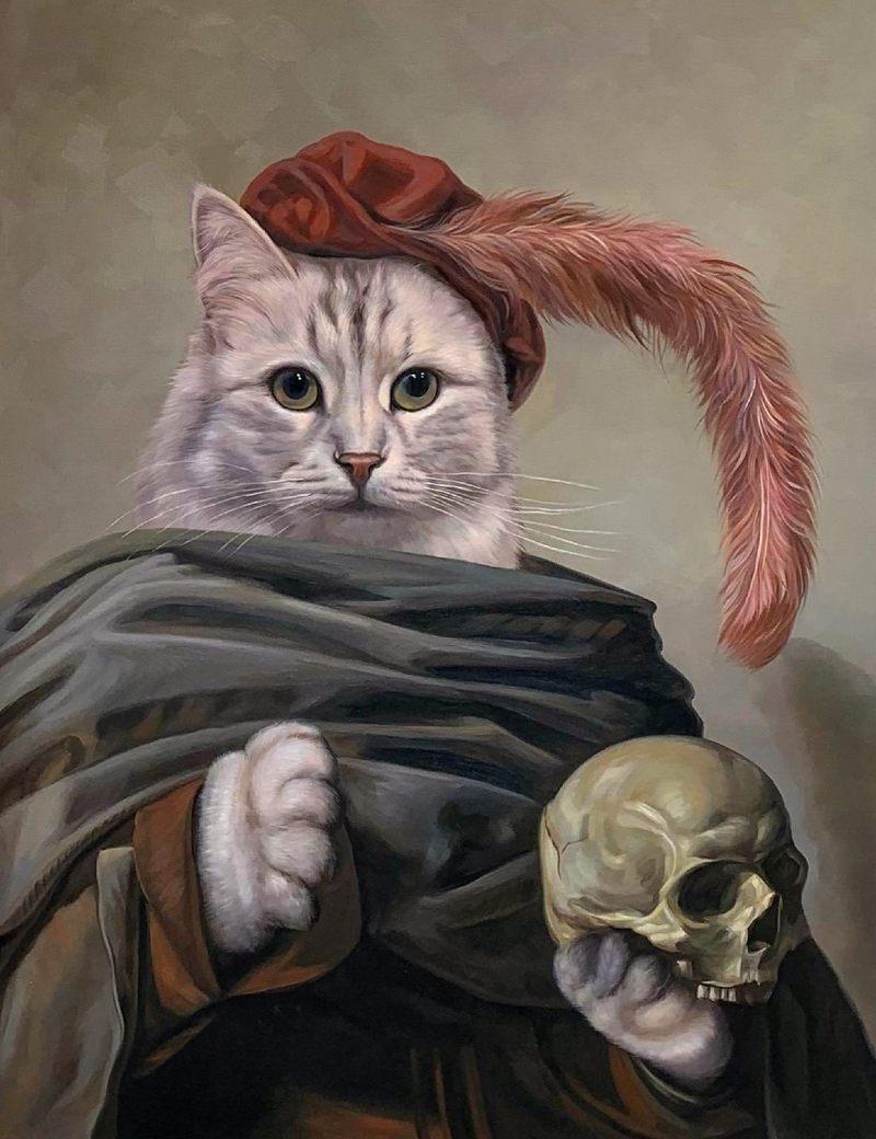 hamlet cat portrait