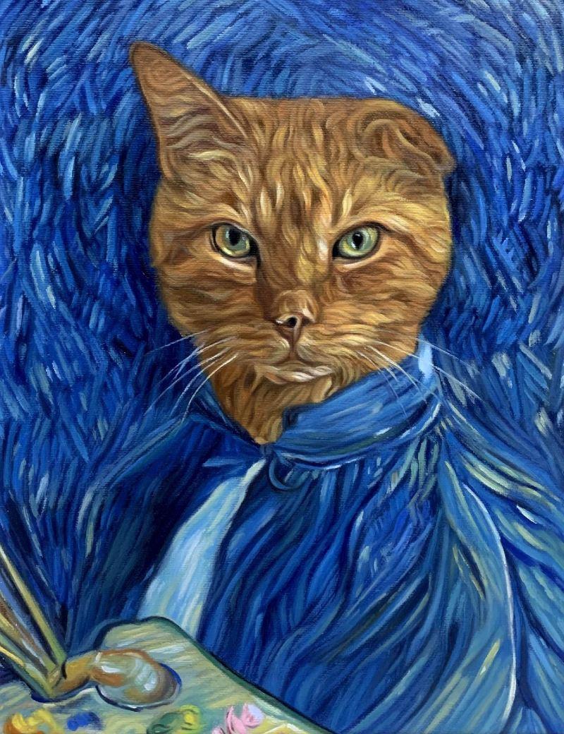 cat portrait splendid beast