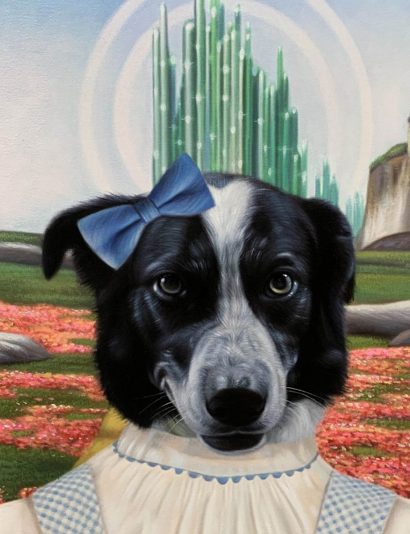 dorothy wizard of oz dog painting