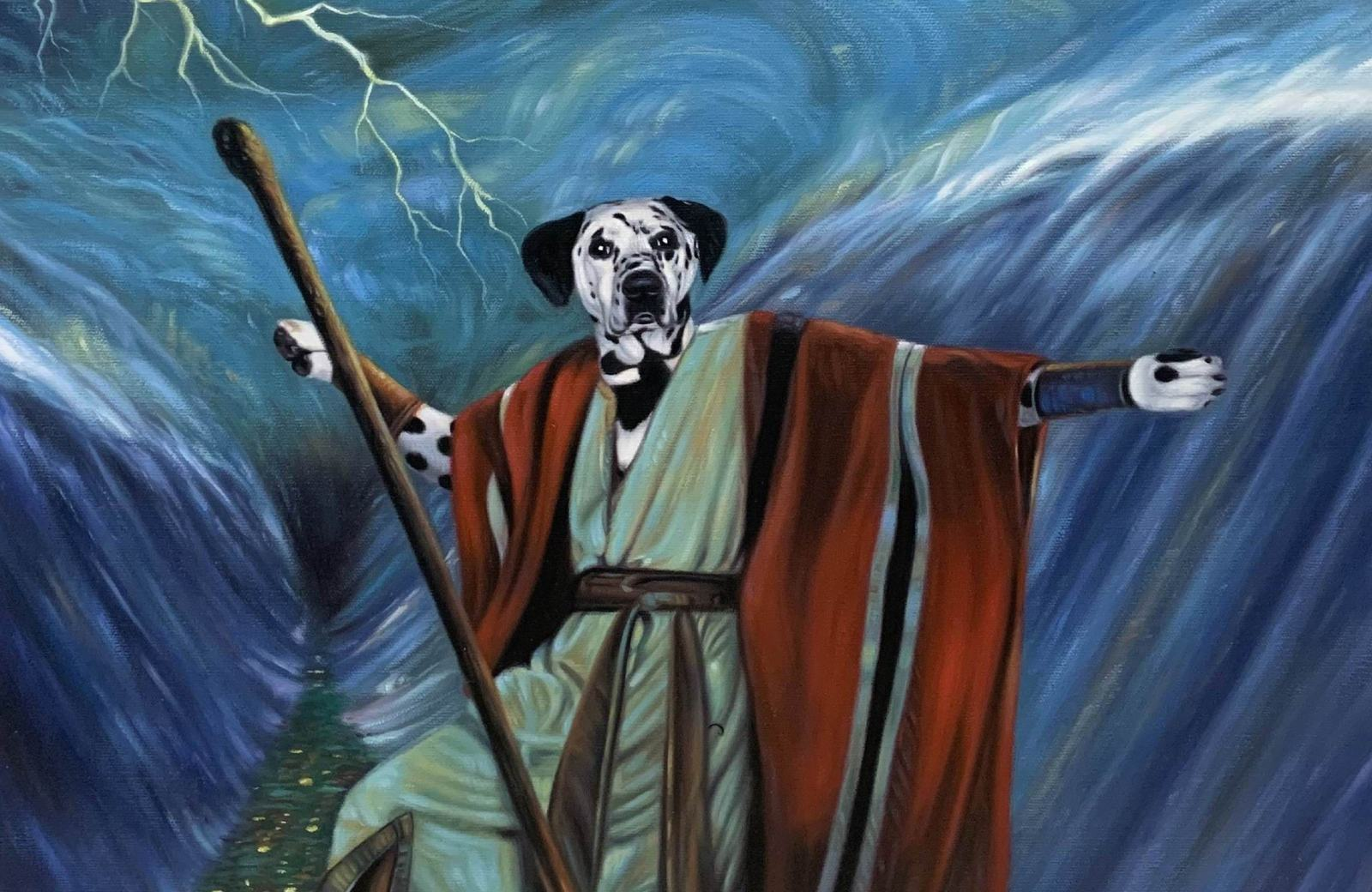 moses dog painting