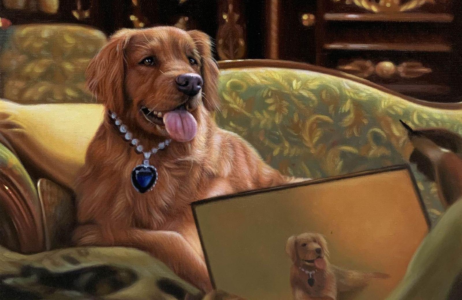 titanic dog painting