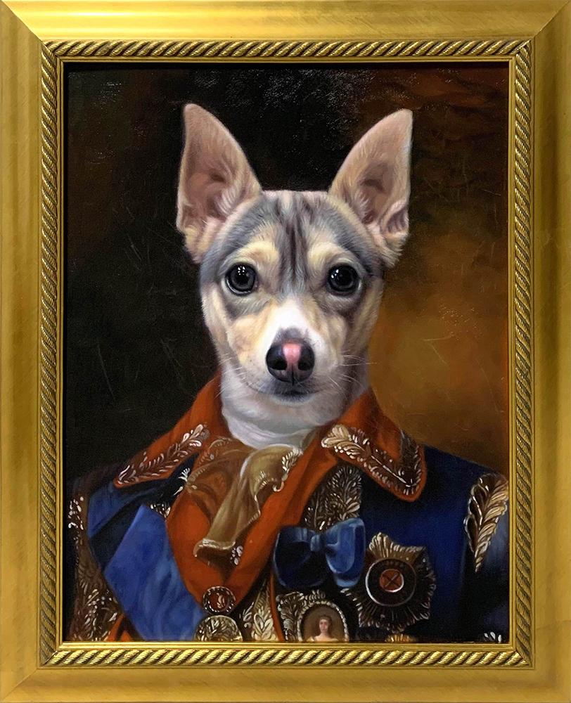 dog czar framed art