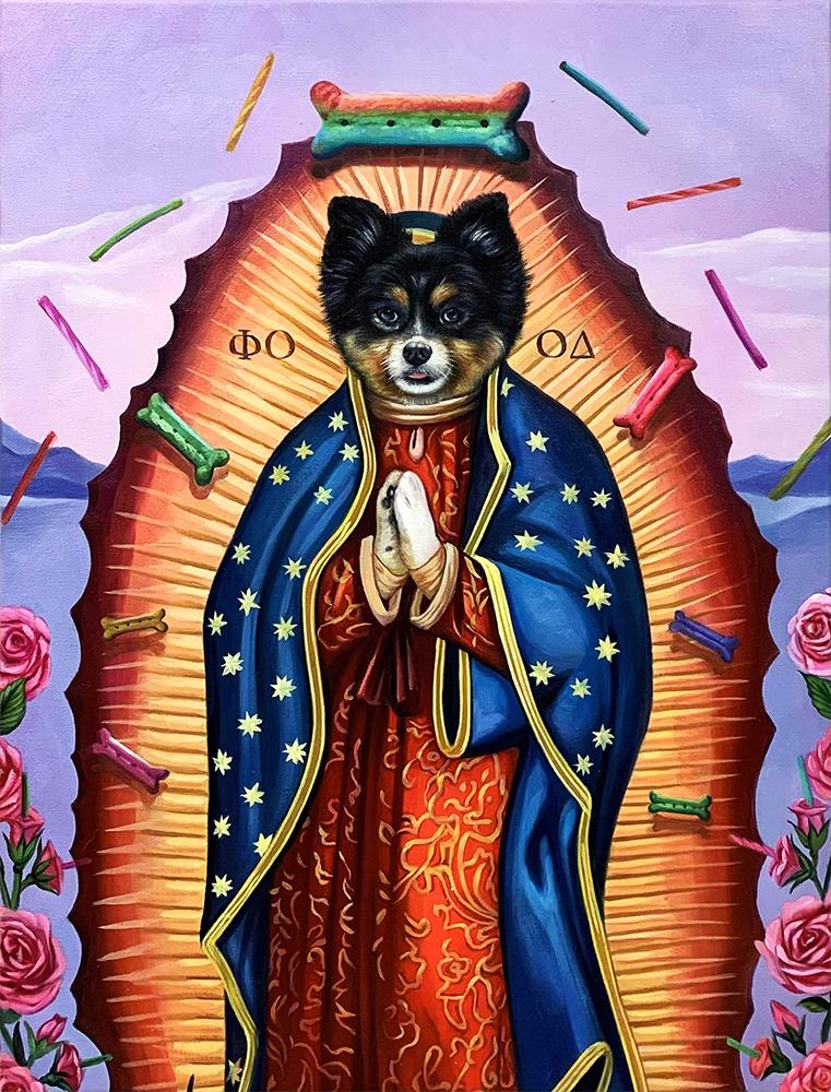 Virgin Guadalupe dog portrait