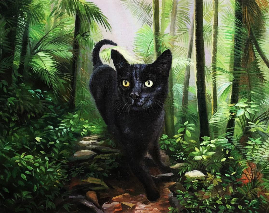 jungle cat painting