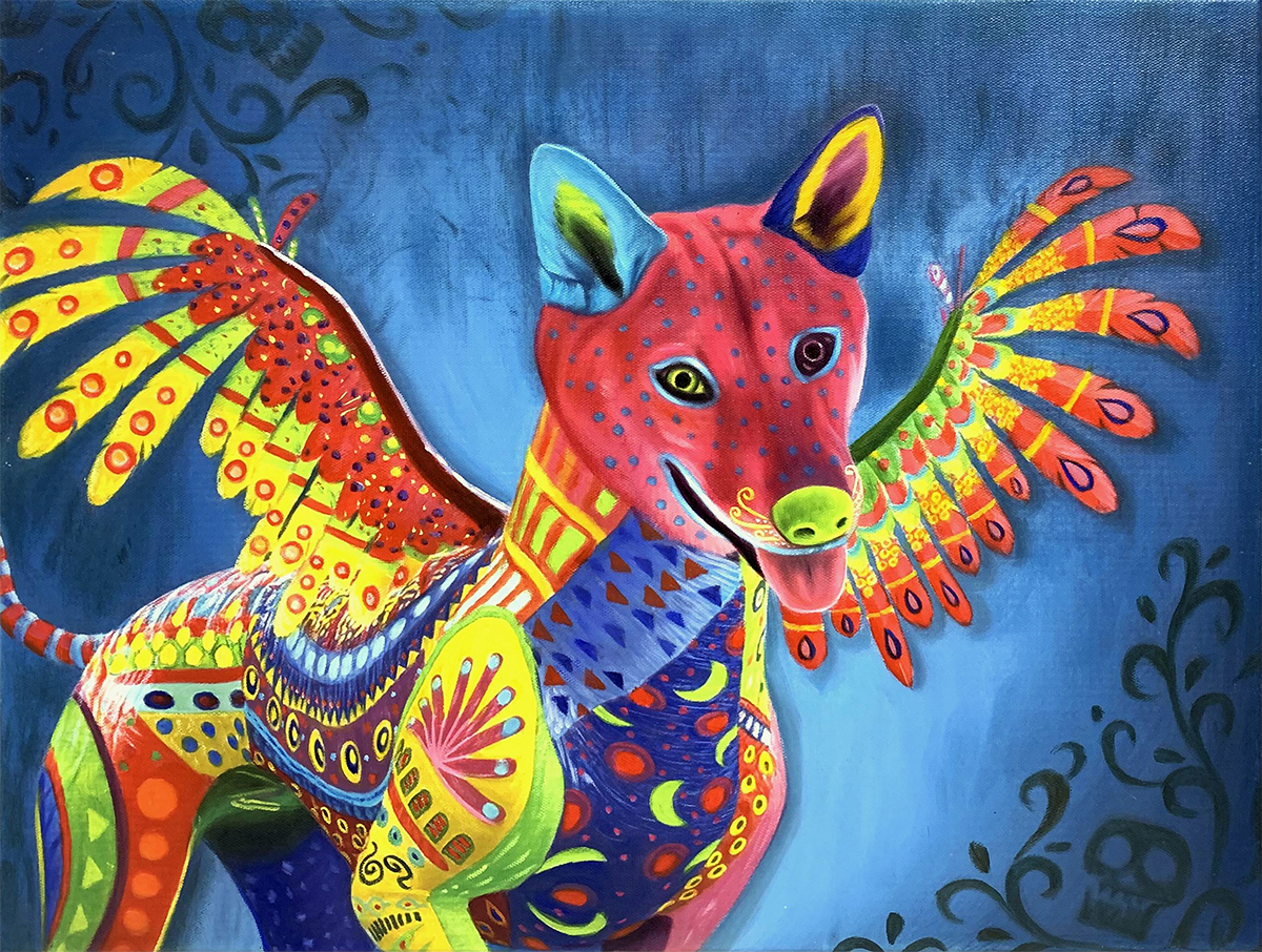 coco dog painting