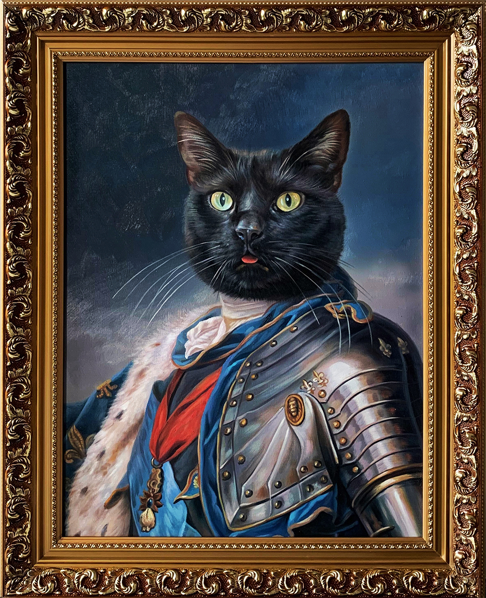 fancy cat portrait