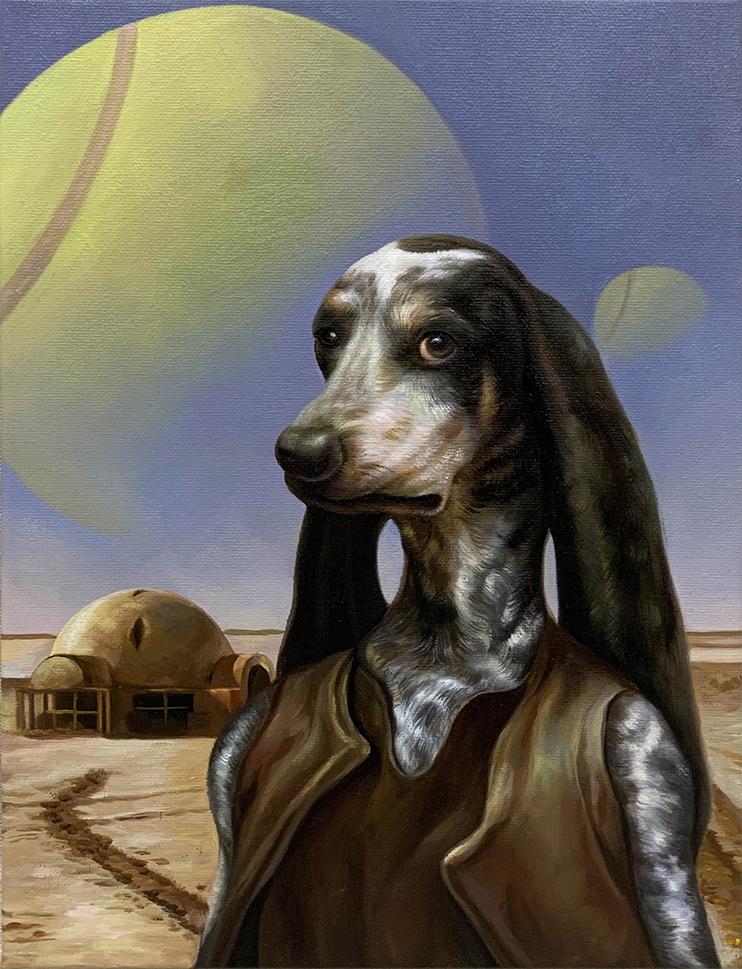 star wars dog painting