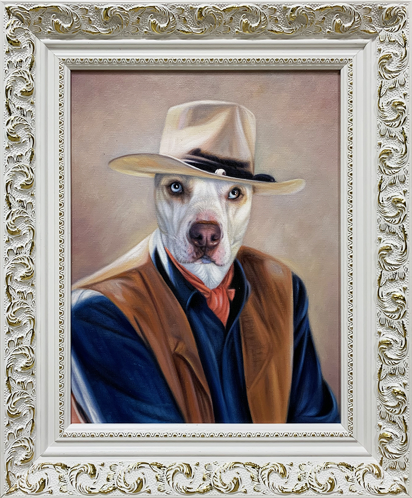 john wayne dog painting
