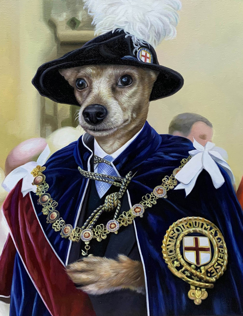 dog portrait splendid beast