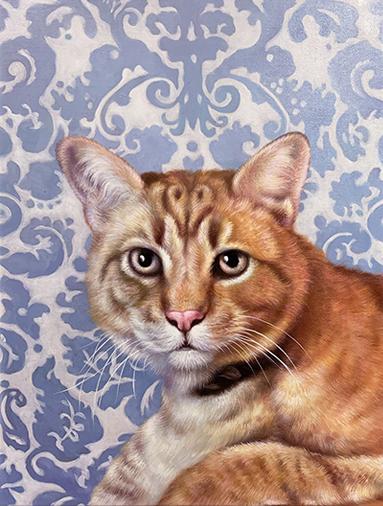 no costume cat painting filigree