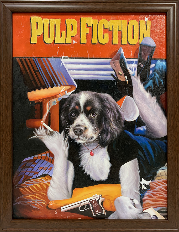 pulp fiction dog painting