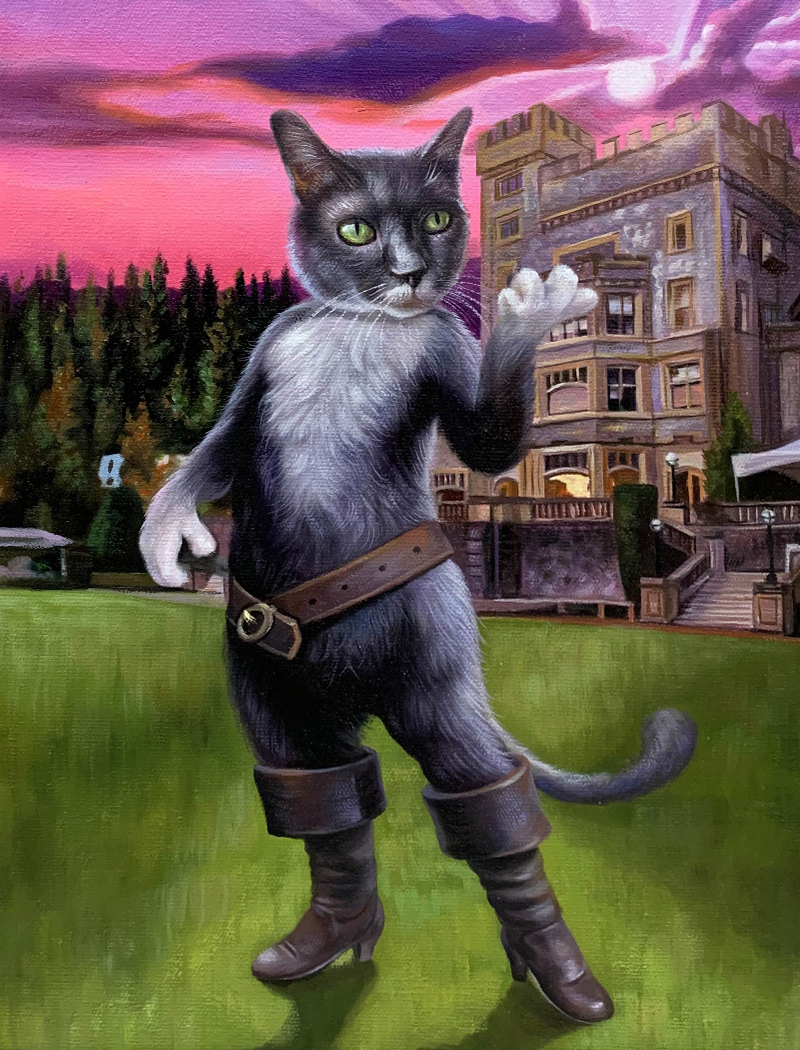 puss in boots cat painting