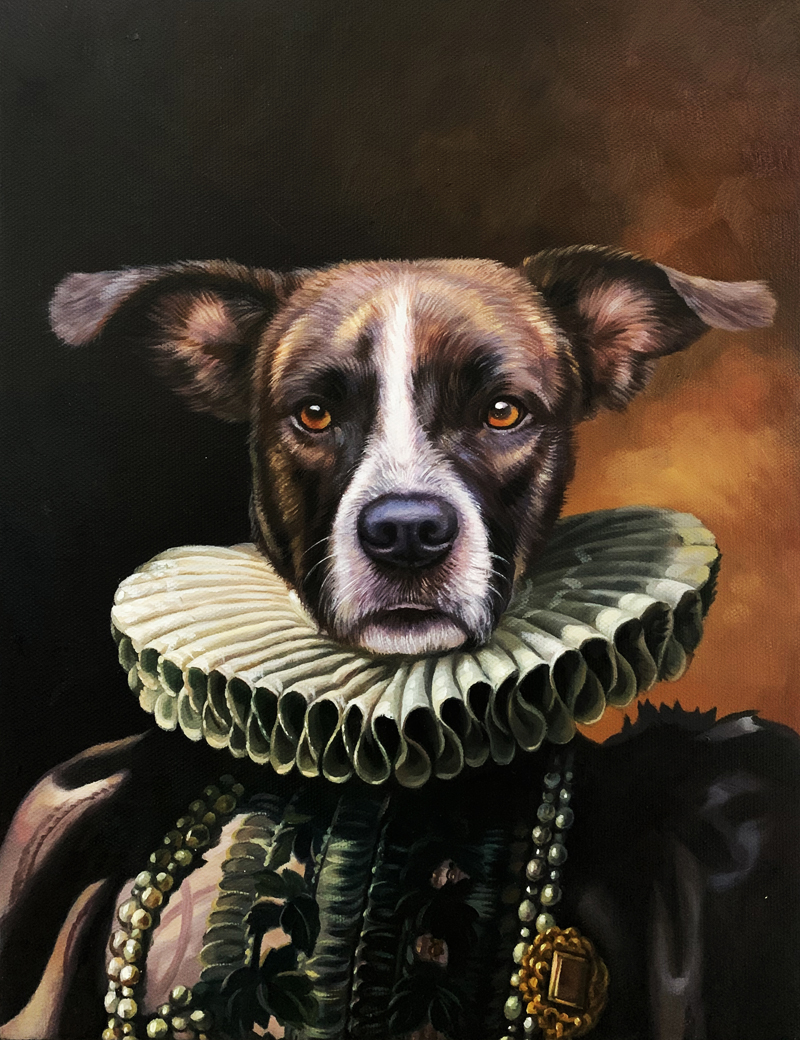 queen dog painting