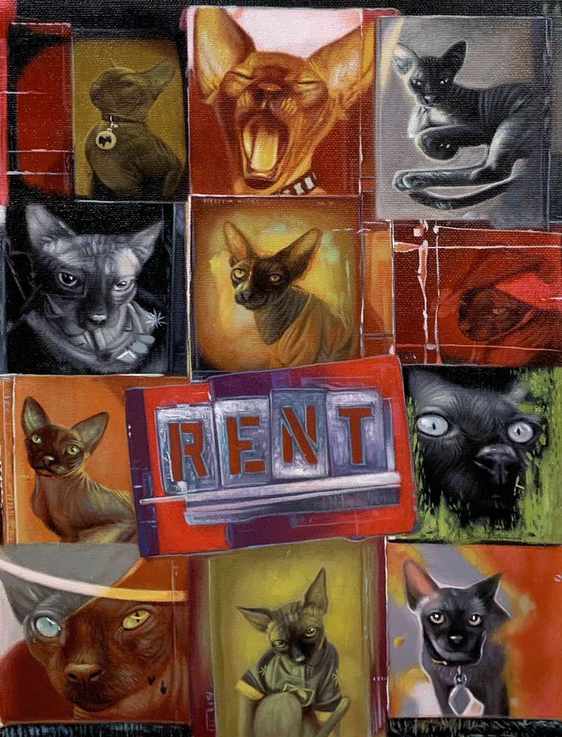 rent musical cat painting